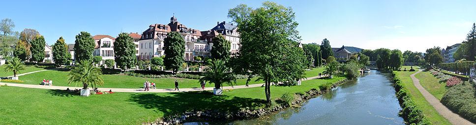 Bad Kissingen am Ufer der Fränkischen Saale