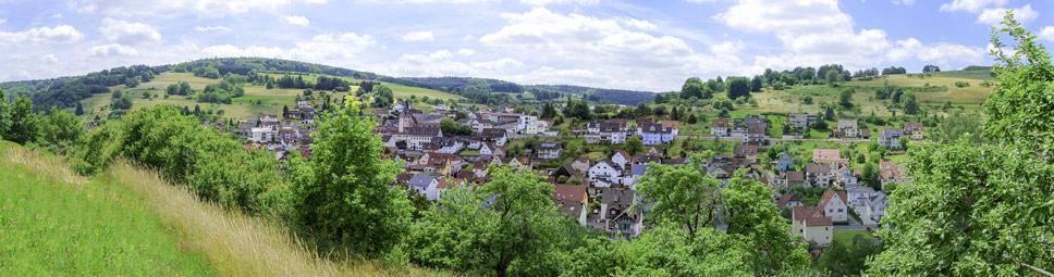 Der Spessartort Frammersbach im Lohrbachtal