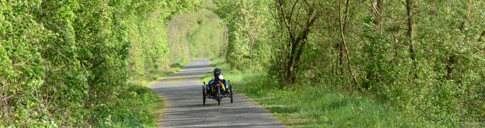 Liegefahrrad auf dem Maintal-Radweg