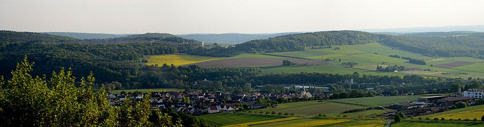Wahrzeichen von Gössenheim ist die Homburg