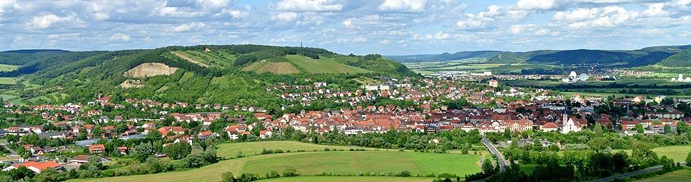 Blick von Schloss Saaleck auf Hammelburg