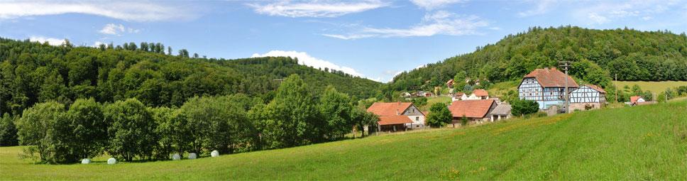 Heckmühle: Ruhig und malerisch gelegen im Schondratal