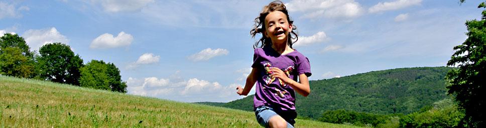 Kinderglück - der Himmel steht offen