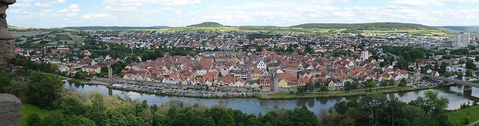 Ansicht von Karlstadt am Main