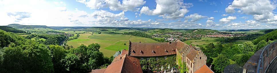Blick von Schloss Saaleck bei Hammelburg
