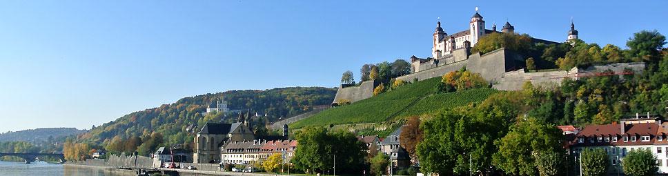 Über Würzburg thront die Festung Marienberg