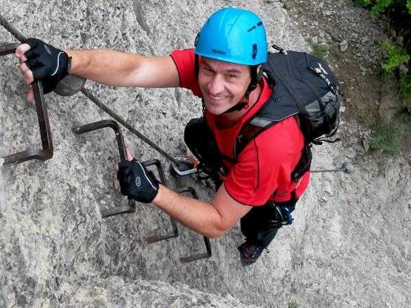 Klettersteig Franken : Klettersteig im spessart erleben