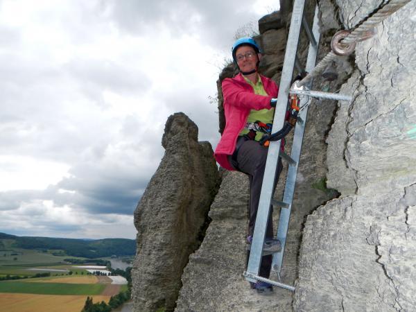 Klettersteig Leiter : Klettersteig im spessart erleben