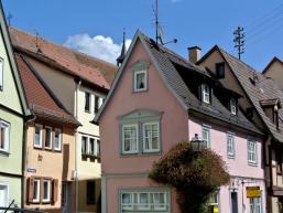 Verwinkelte alte Fachwerkhäuser