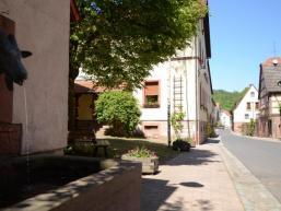 Ortsansicht Schonderfeld mit Dorfbrunnen