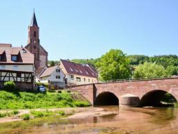 Ansicht Gräfendorf mit Schondrabrücke