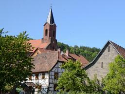 Rund um den Kirchturm von Gräfendorf