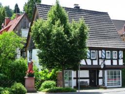Der Ort Frammersbach im Naturpark Spessart