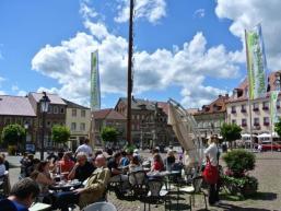 Eiscafe´s auf dem Markplatz in Hammelburg