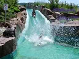 12 m Wasserrutsche im Naturbad