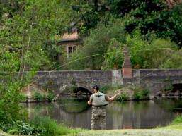 Angeln am Fluss