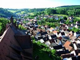 Burg Rieneck - Ausblick nach Süden