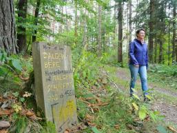 Wanderer am Galgenberg