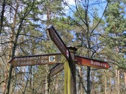 Wegweiser Birkenhainer Landstraße