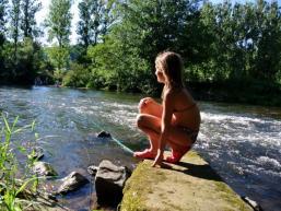 Badewehr in Rieneck - ein schöner Platz zum Verweilen