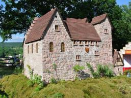 Die Burg von Partenstein im Spessart als Modell