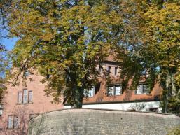 Hinter dicken Mauern versteckt die Burg Rieneck