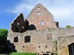 Die Mauern der Ruine Schönrain