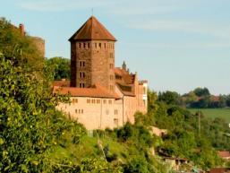 Sicht auf Burg Rieneck