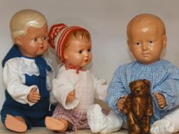 Antike Puppen im Heimatmuseum Rieneck