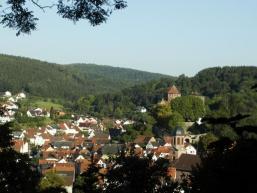 Sicht auf Rieneck vom Herrgottsberg