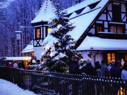 Winterliches Bild der Bayrischen Schanz im Spessart