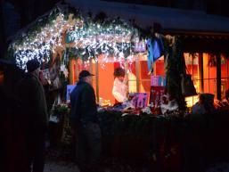 Verkaufsstand am Spessart Adventsmarkt