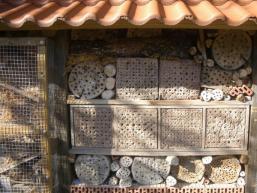 Insektenhotel - beliebte Unterkunft im Spessart