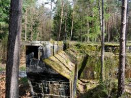 Vergessener Brückenfuß im Spessartwald