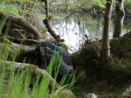 Wandern durch die Natur im unteren Sinngrund
