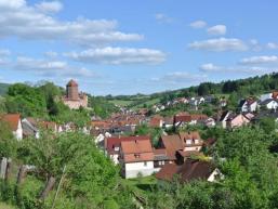 Rieneck mit Burg im Spessart
