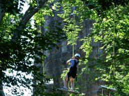 Klettern mit Burgkulisse