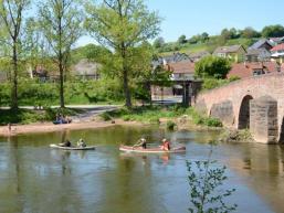 Wunderschöne Flusslandschaften an der Fränkischen Saale