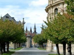Blick vom Hofgarten zum Würzburger Dom