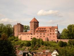 Burg Rieneck vom Läusberg gesehen