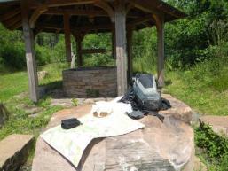 Ziegelbrunnen: Rastplatz bei Aura