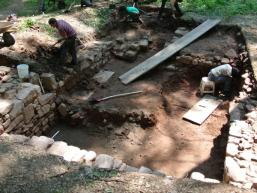 Ausgrabungsstätte im Spessart
