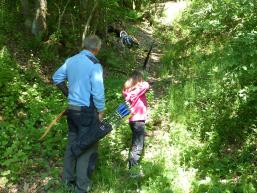 Auf der Jagd mit Pfeil und Bogen