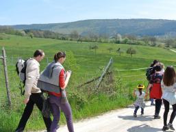 Wandergruppe auf dem Rundweg Hasenweg