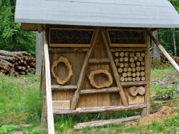 Nahe der Richteiche: Insektenhotel