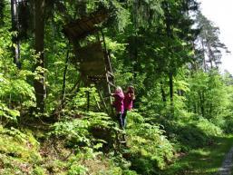 Kletterspaß im Spessartwald