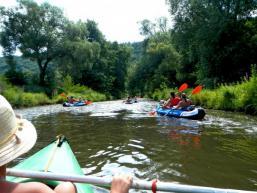 Wasserwandern als Kajaktour auf der Saale oder Sinn