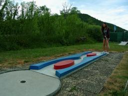 Minigolfbahnen auf der Saaleinsel im Spessart
