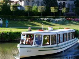 Schifffahrt auf der Saale in Bad Kissingen
