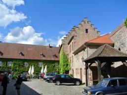 Zugang zum Hotel Schloss Saaleck
